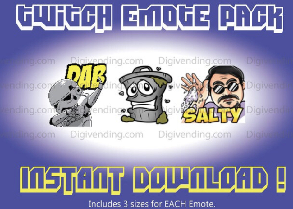 Trashcan Twitch Emotes Ready to use